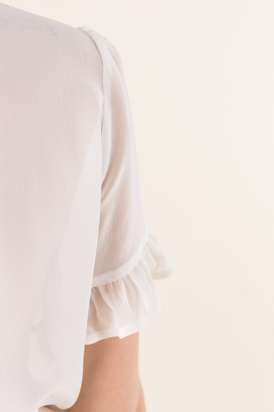 White blouse with short sleeves