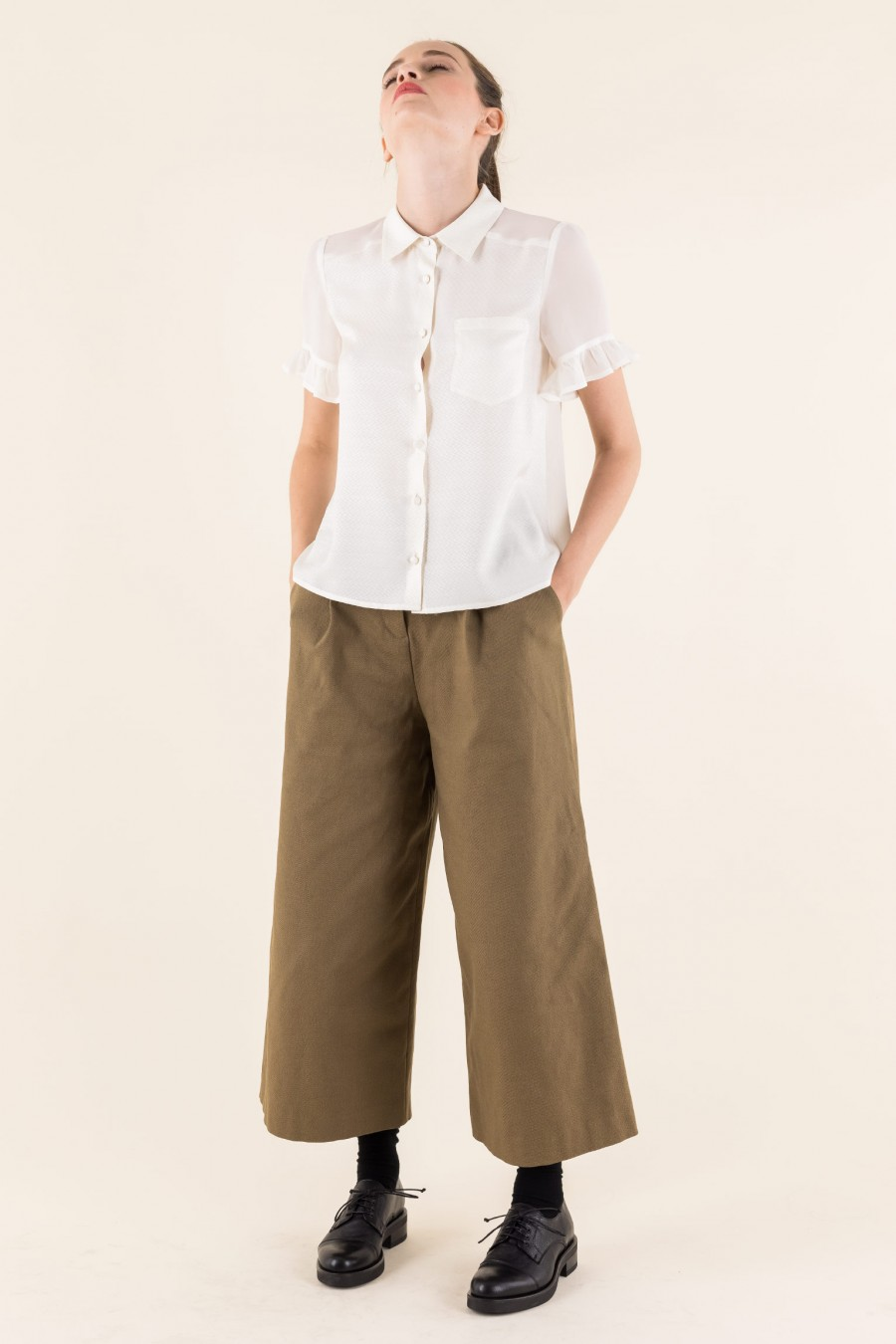 White shirt with short sleeves