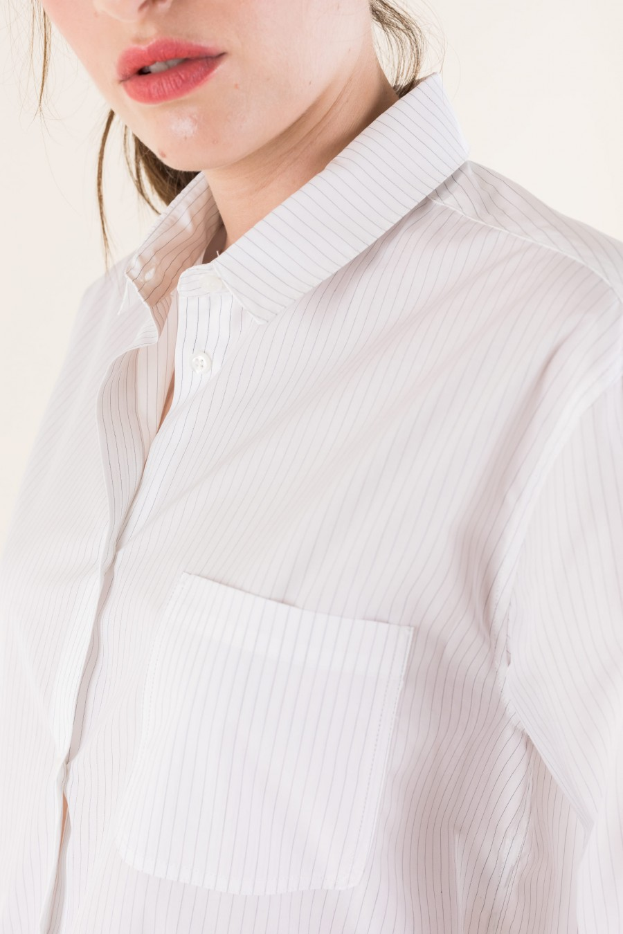 White male cut shirt