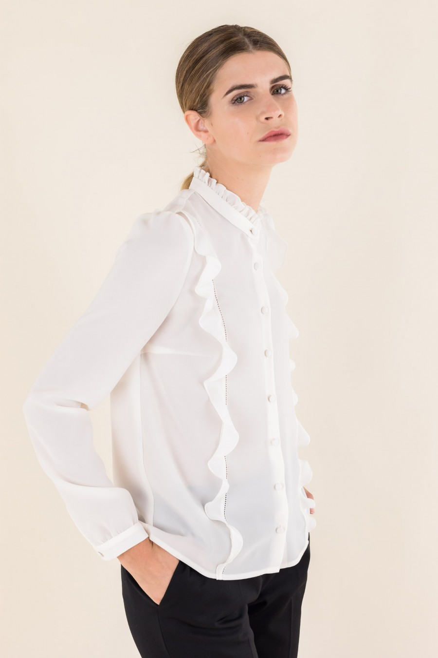 Hemstitch blouse