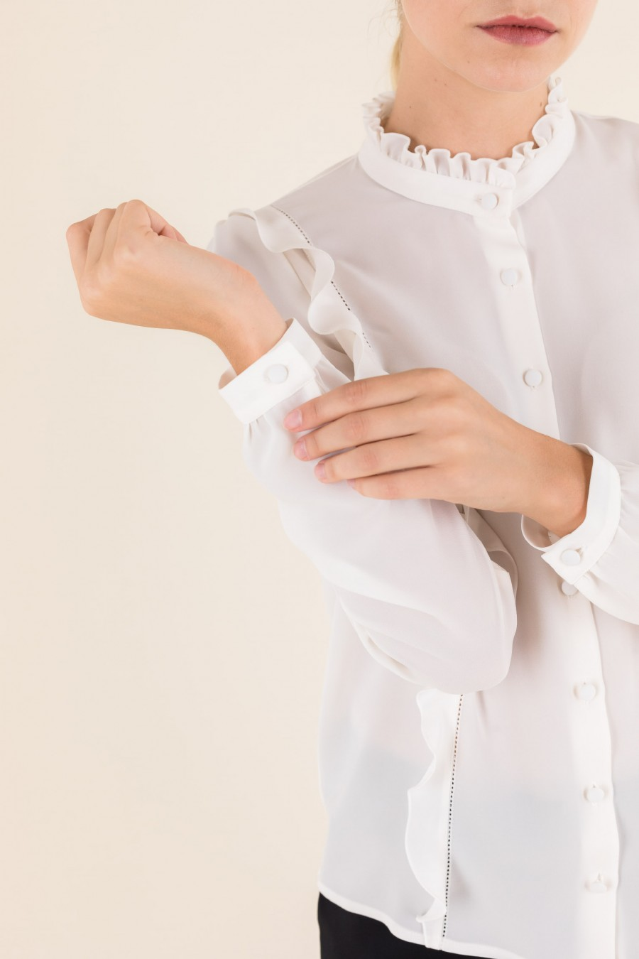 White elegant blouse