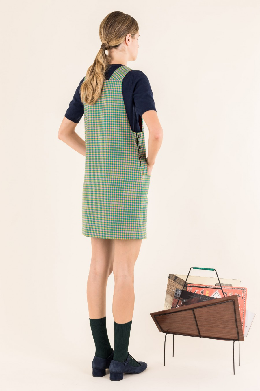 Seventies chequered dress