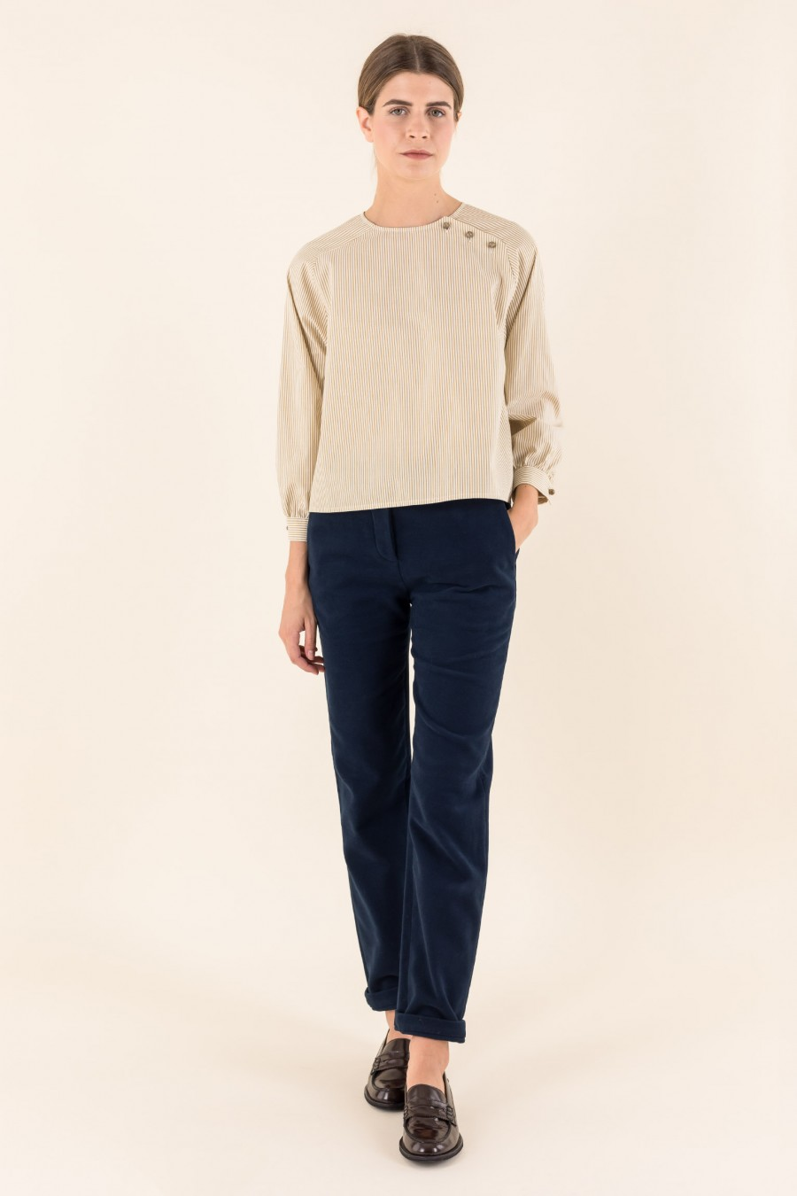 Trousers made with fustian fabric