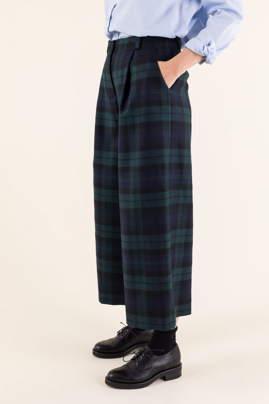 Woollen culottes with pleat