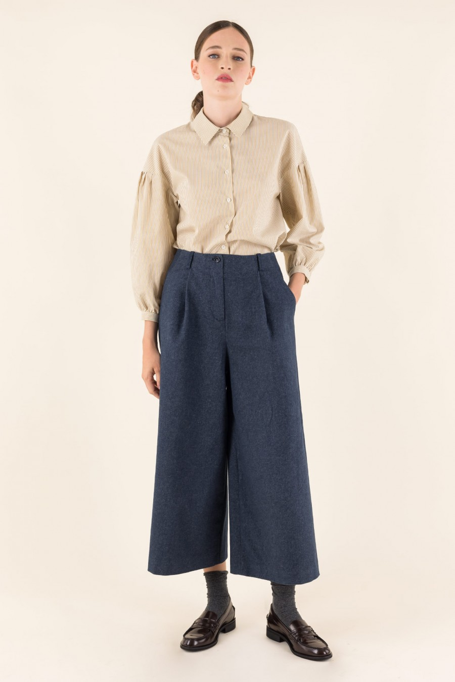 Culottes with pleat