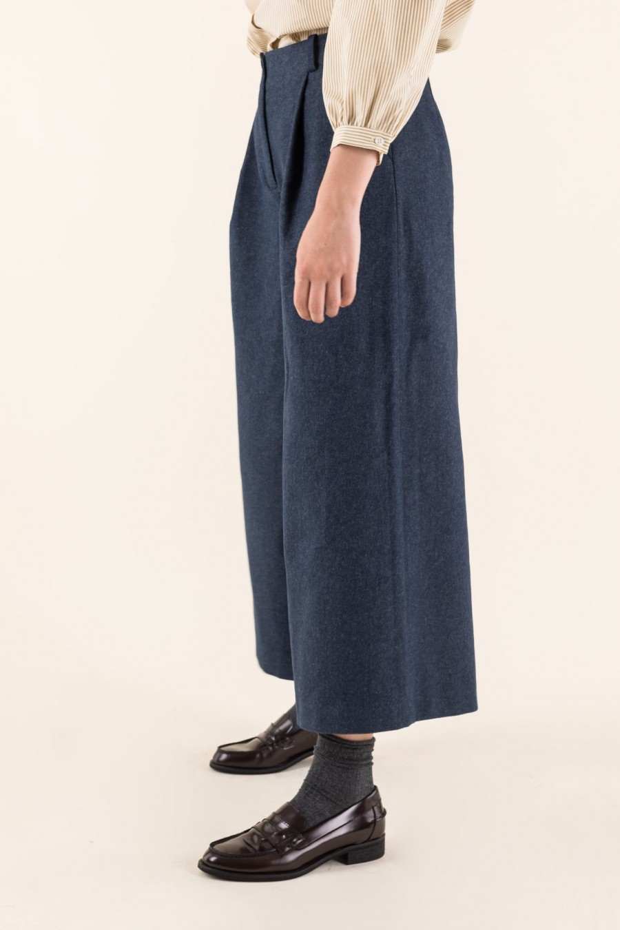 Blue oversize trousers