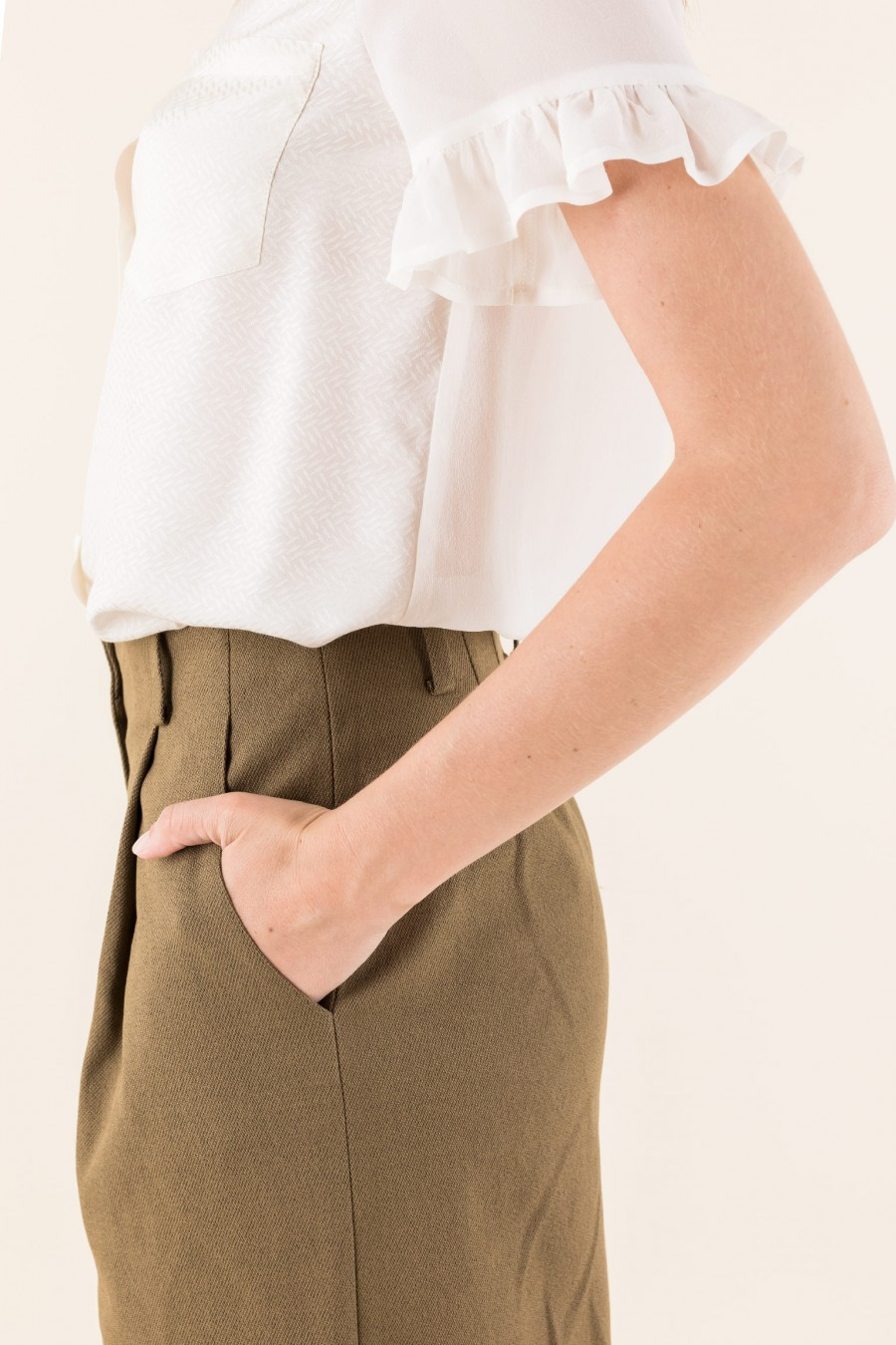Mud culottes with pleat