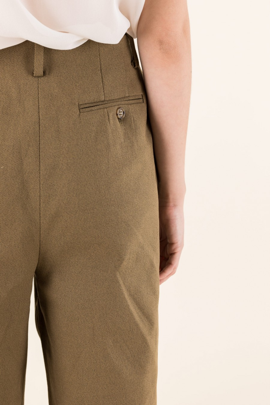 Mud wide trousers