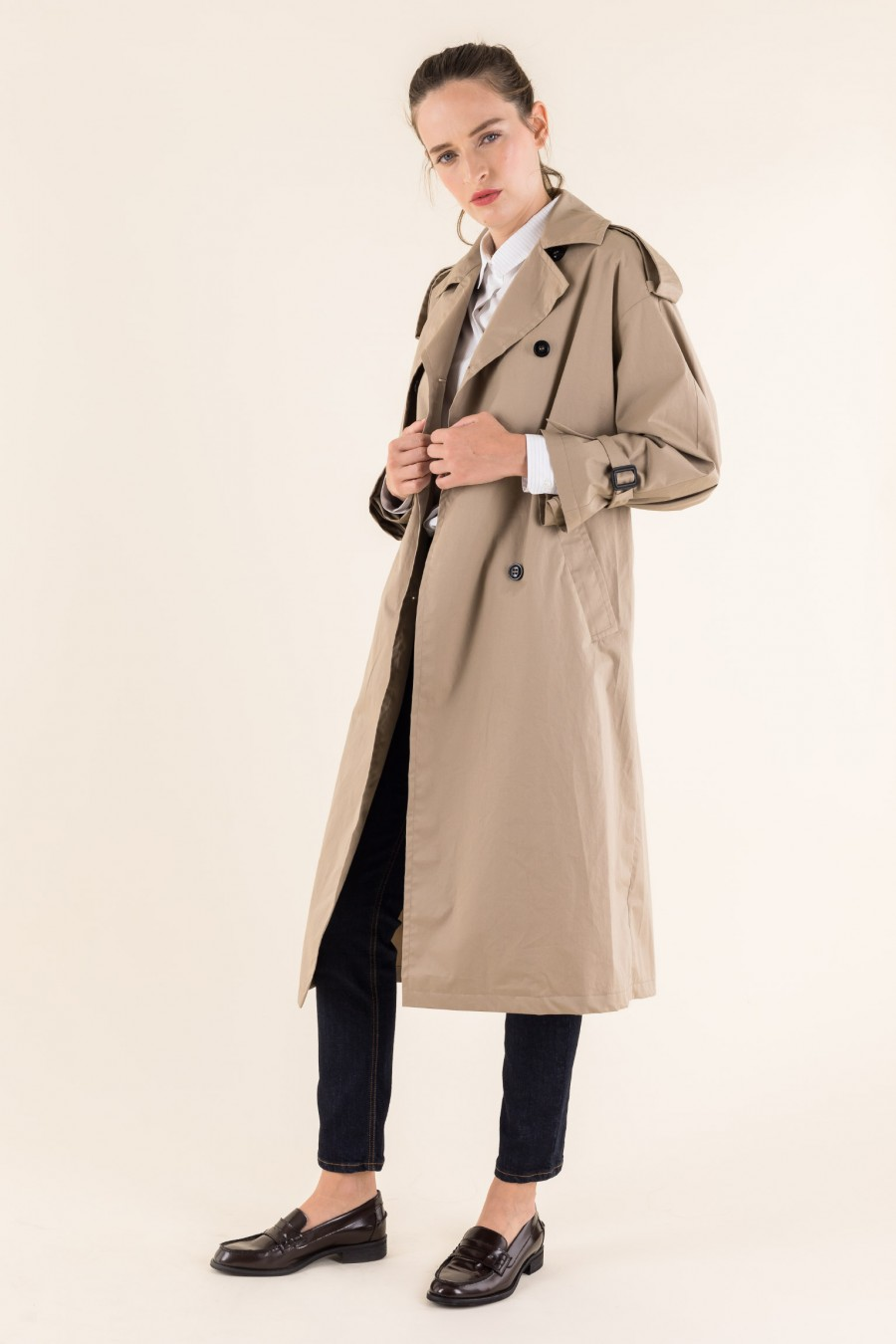 Cotton mid-length trench