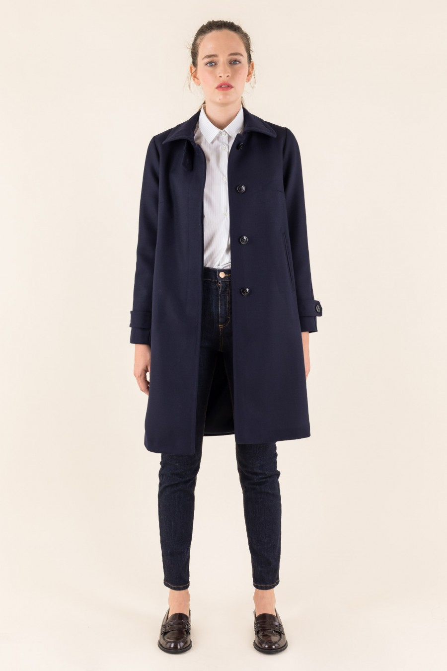 Wool lined coat