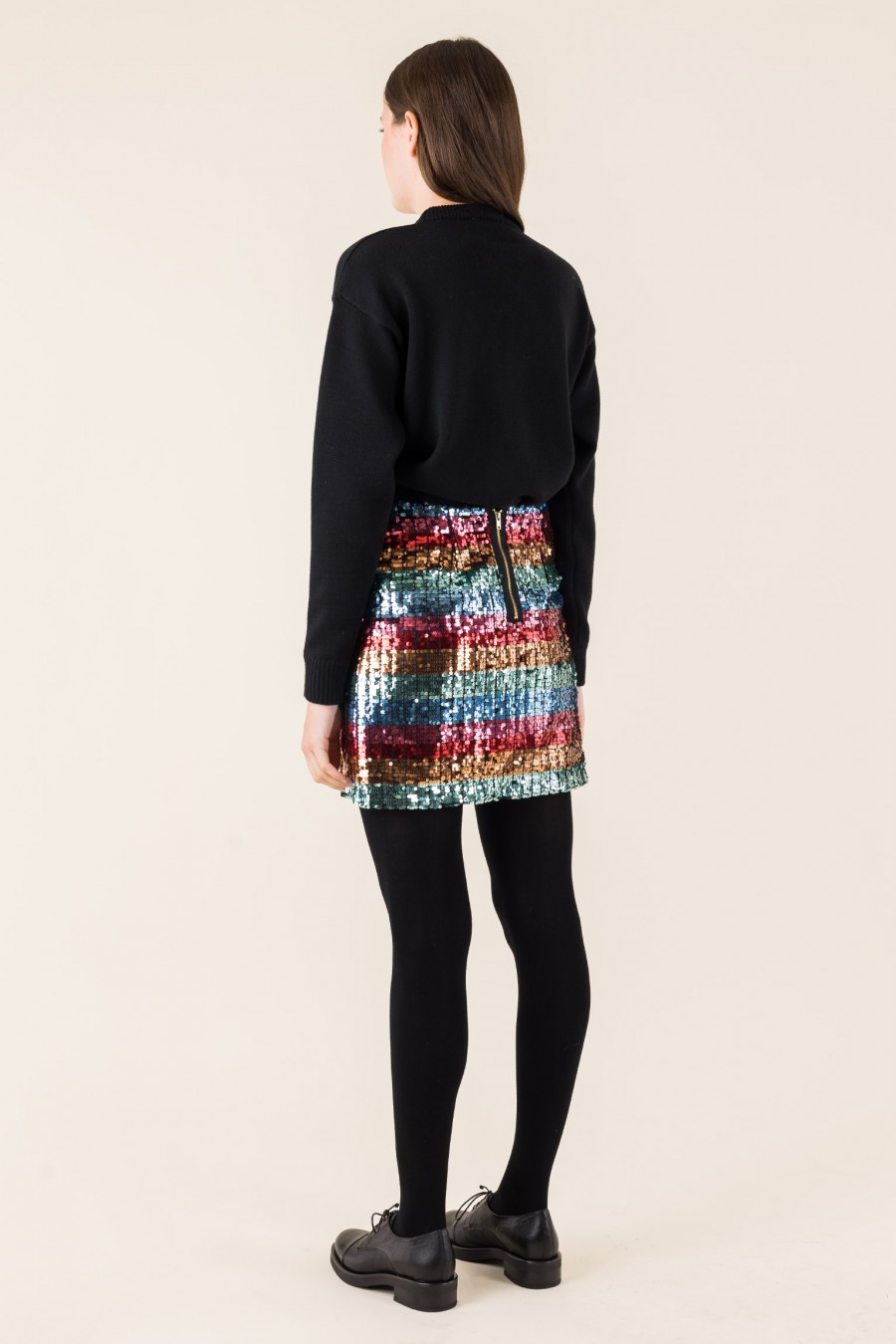 Colorful sequins skirt