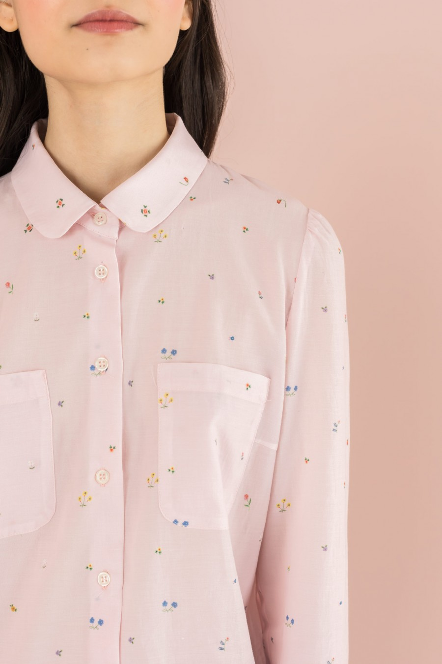 shirt with little flowers