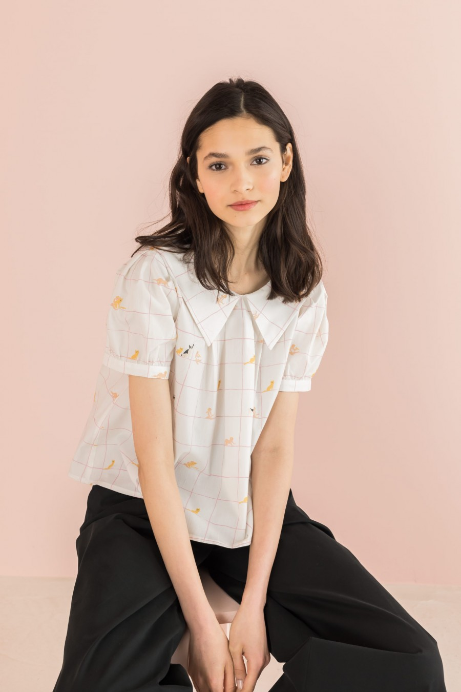 blouse with sailor collar