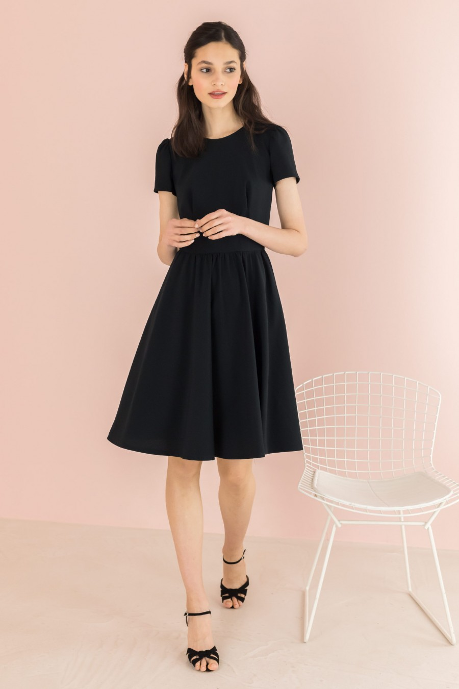 dress with gathered skirt