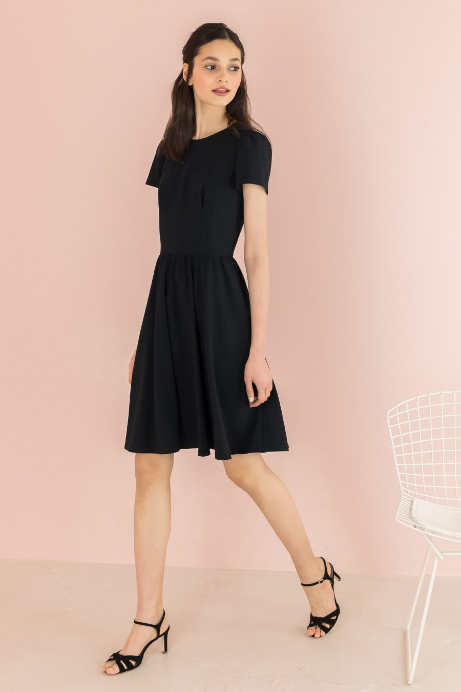 black spring-summer dress