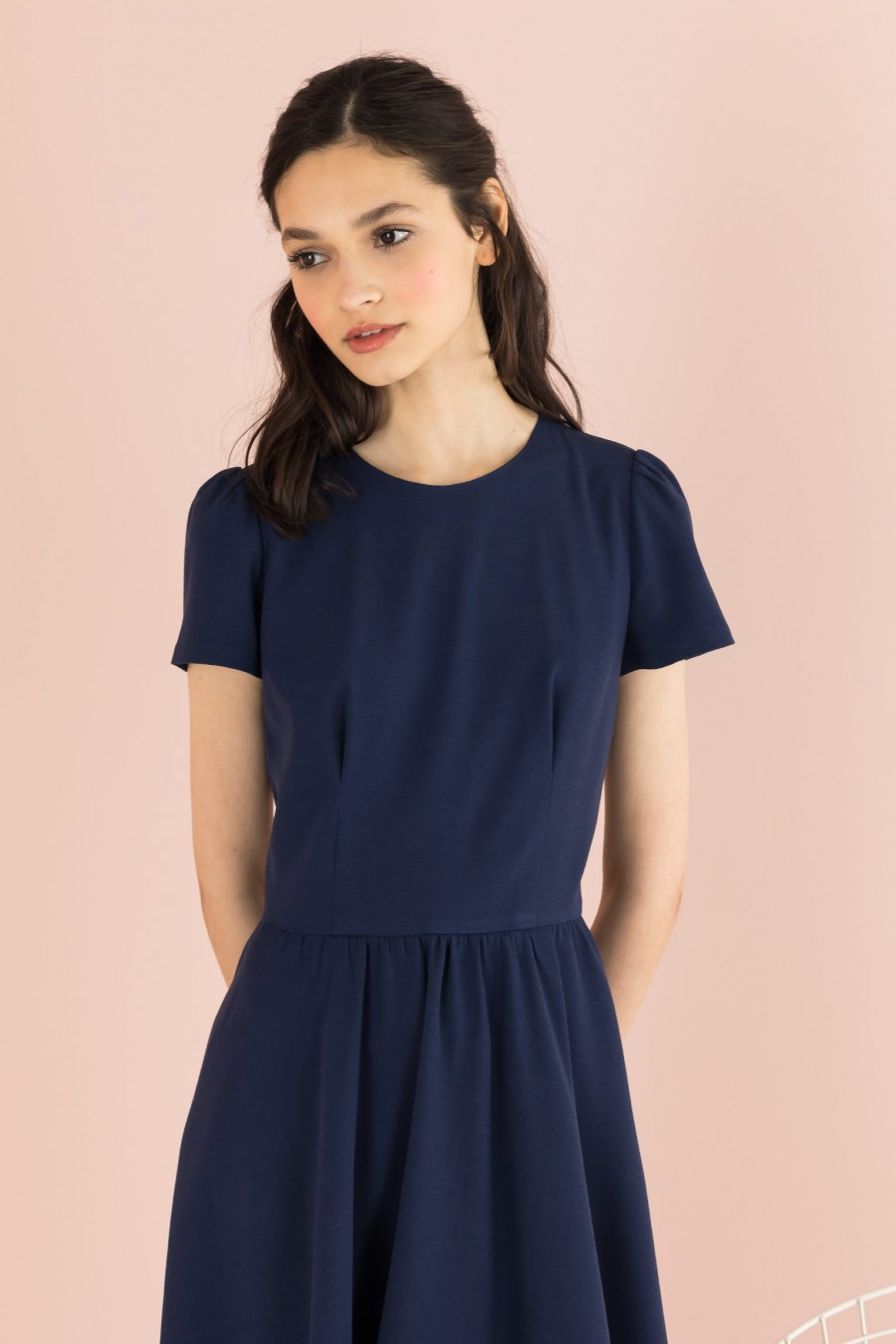 blue spring-summer dress