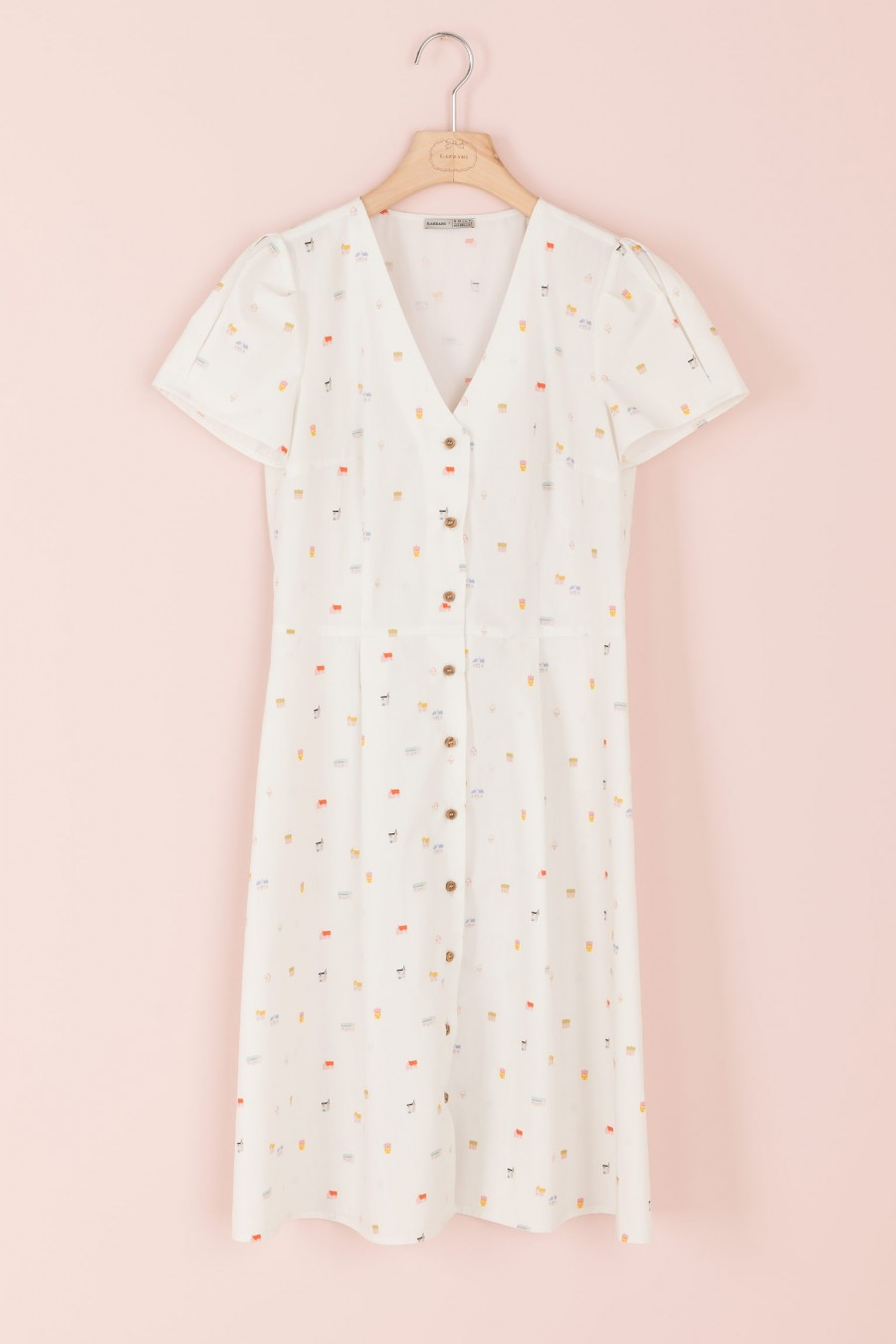 shirt-dress with patterned