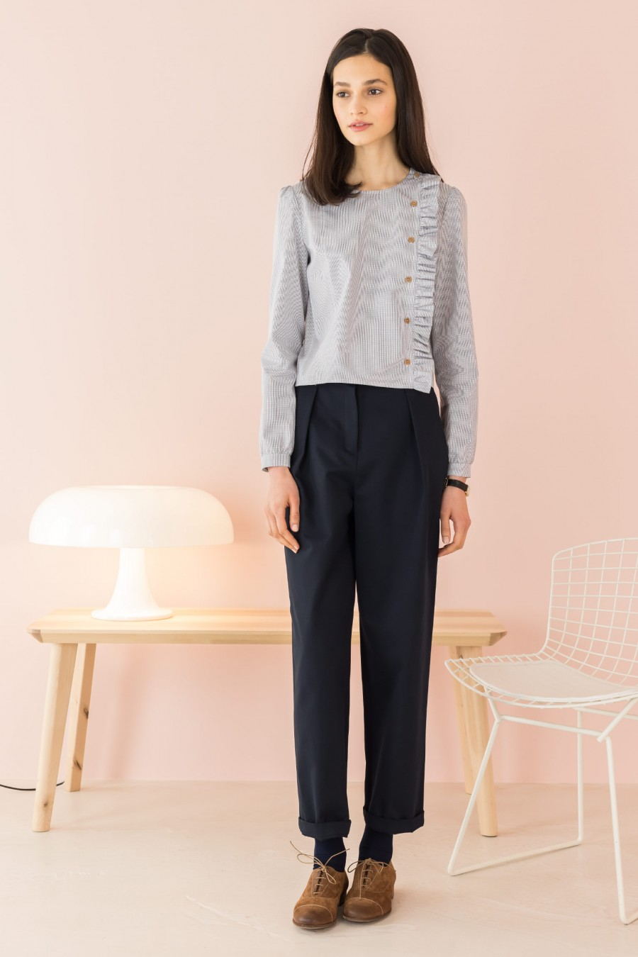 blue summer trousers