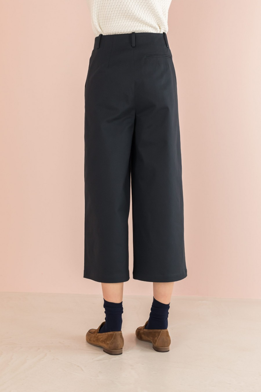 blue culotte trousers