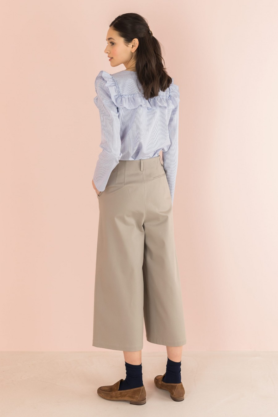 beige spring trousers