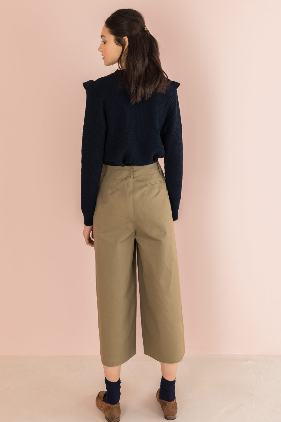 light wide trousers