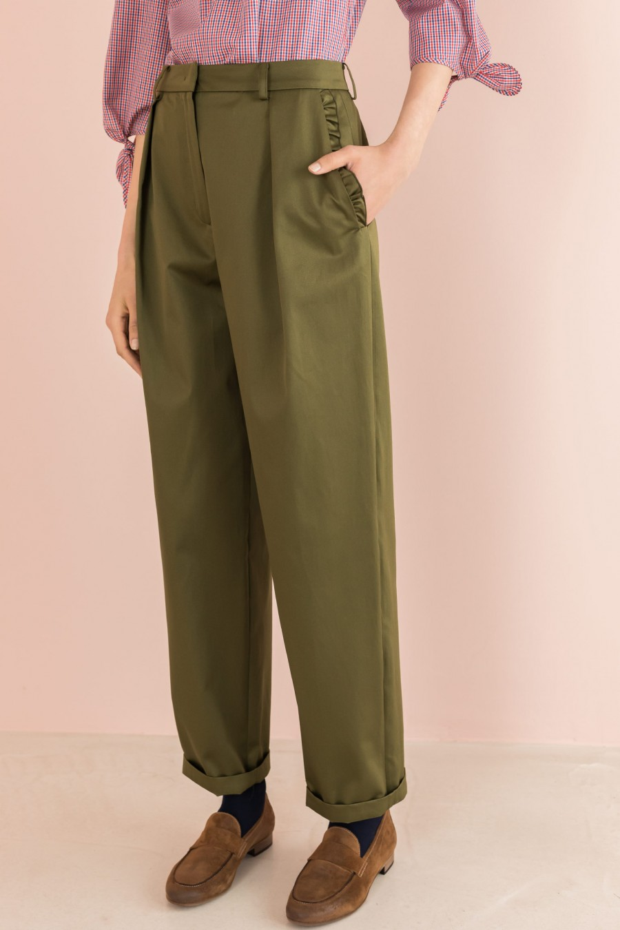 military egg-shaped trousers