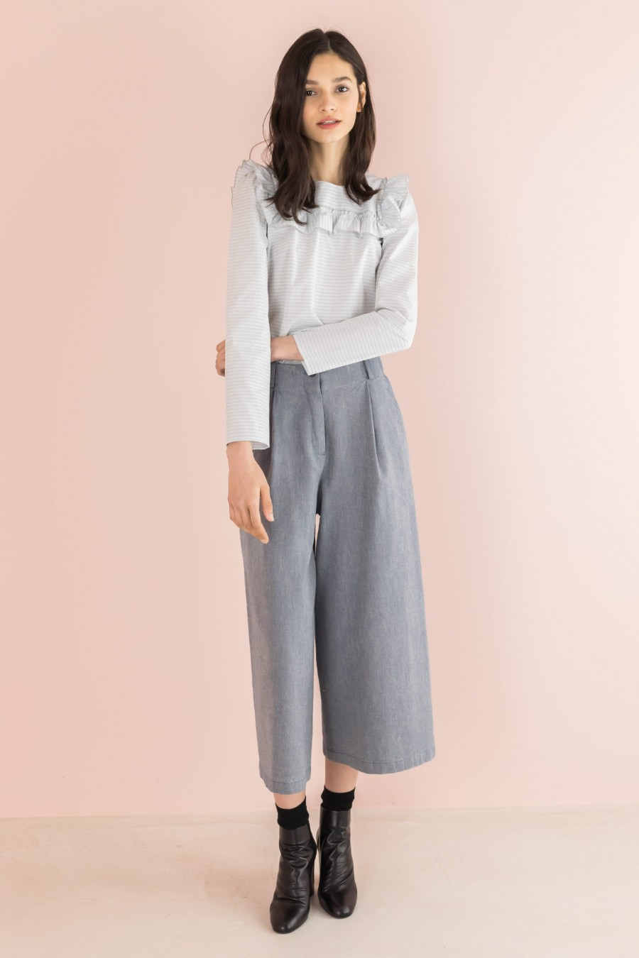 culottes trousers in cotton