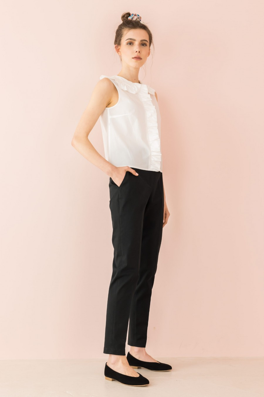 velvety-cotton trousers