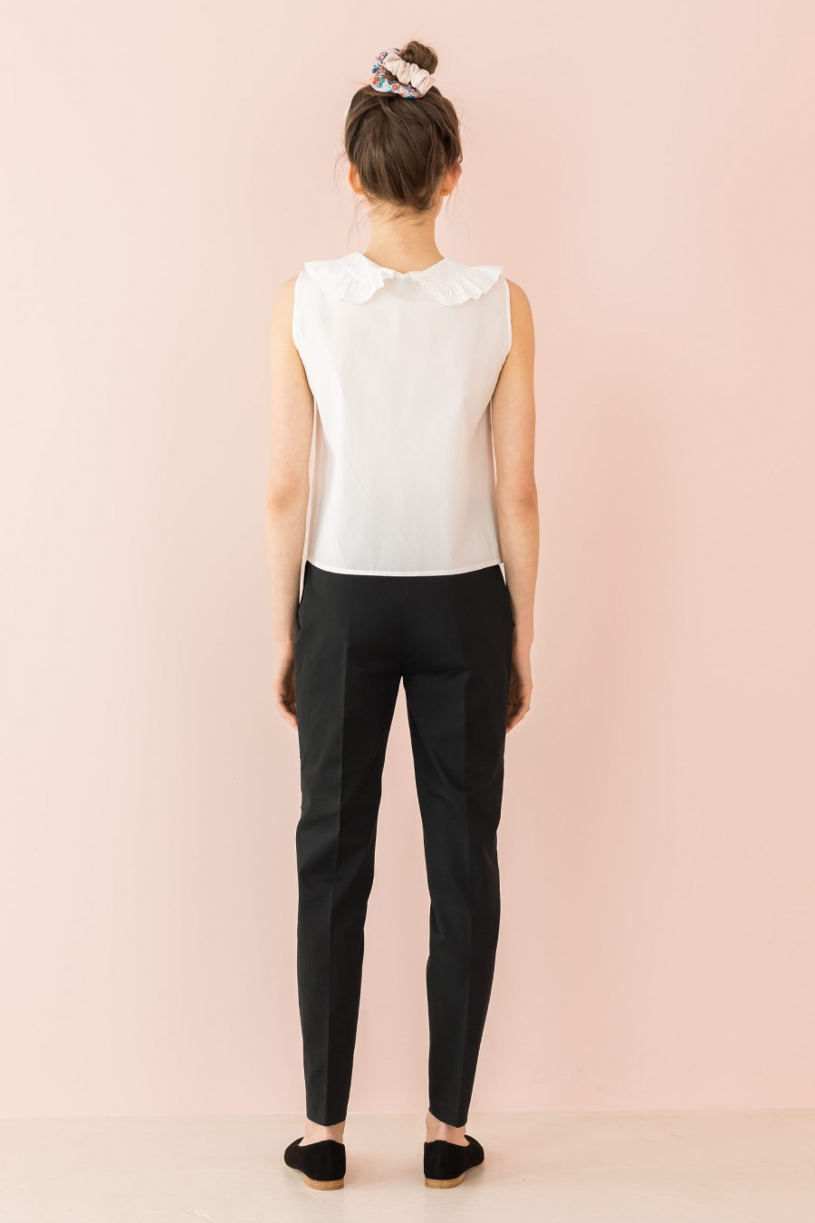 black trousers in cotton