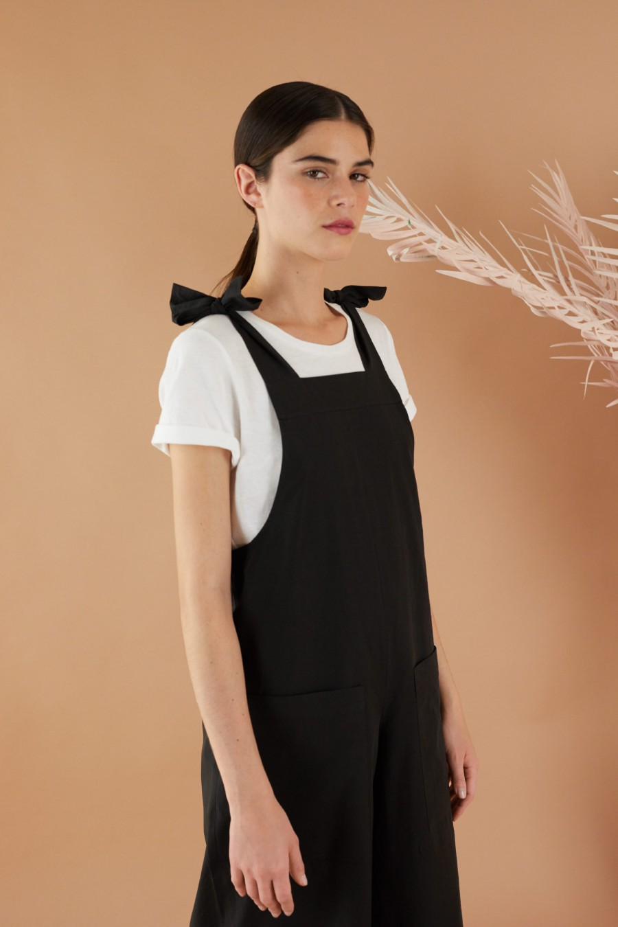 Jumpsuit with adjustable bows