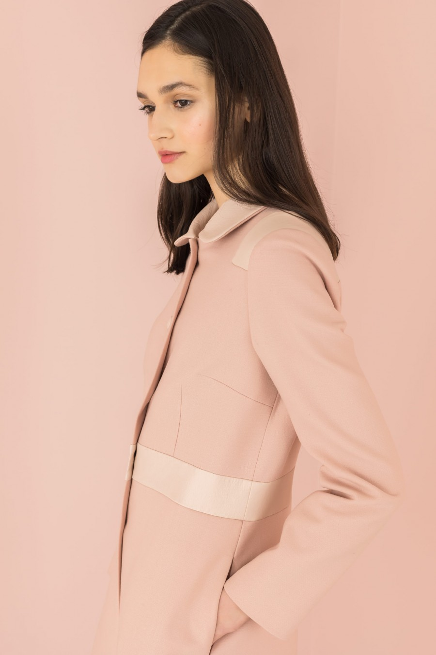 light pink duster with inserts