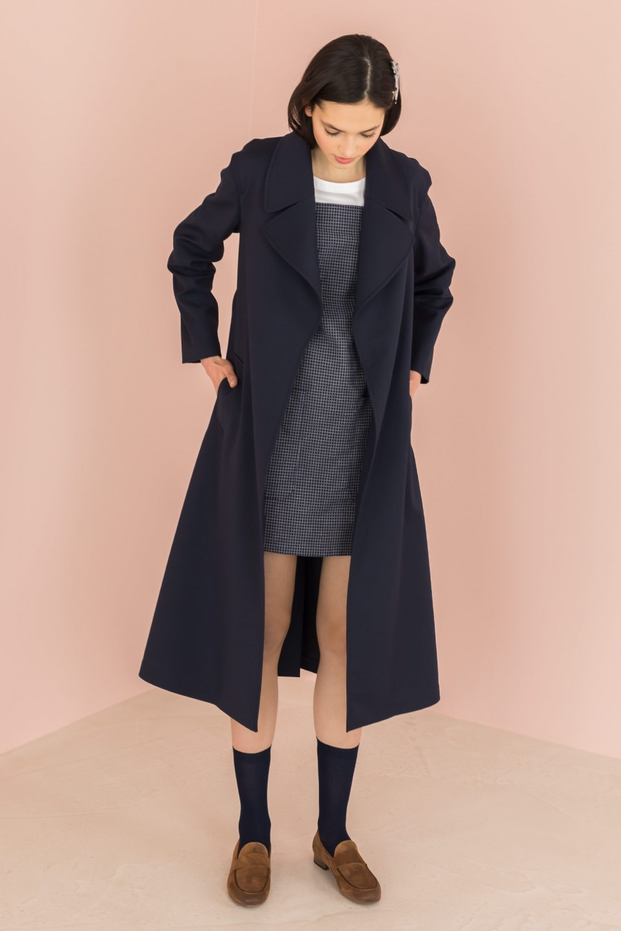 long trench soft fabric