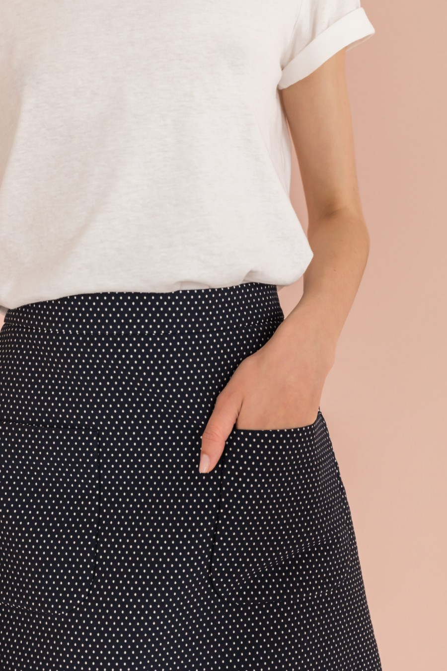 Blue skirt with pockets