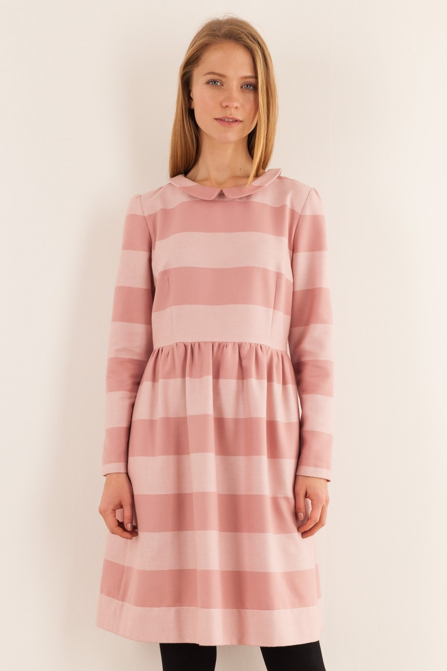 striped pink dress