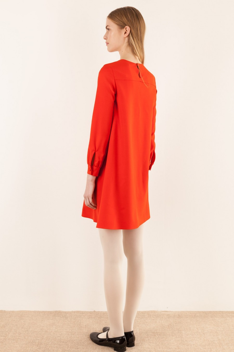 Red dress with yoke