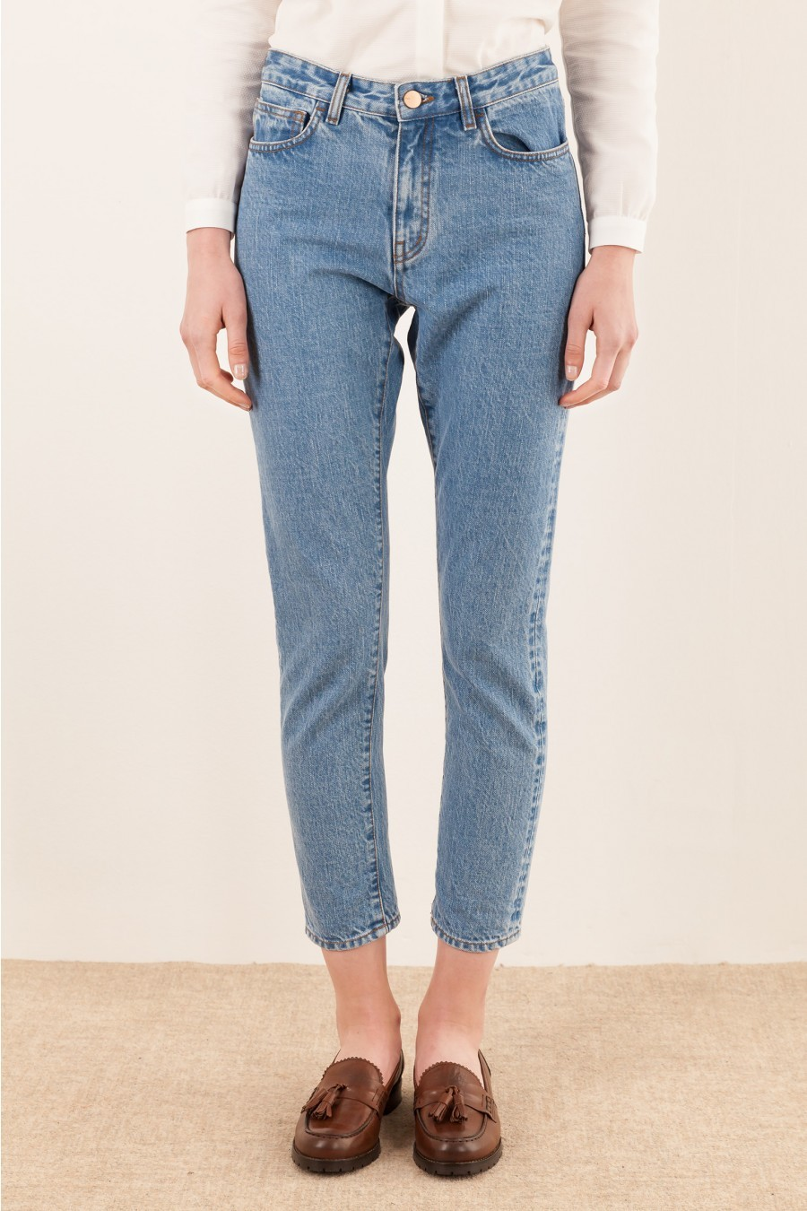 light color selvage jeans