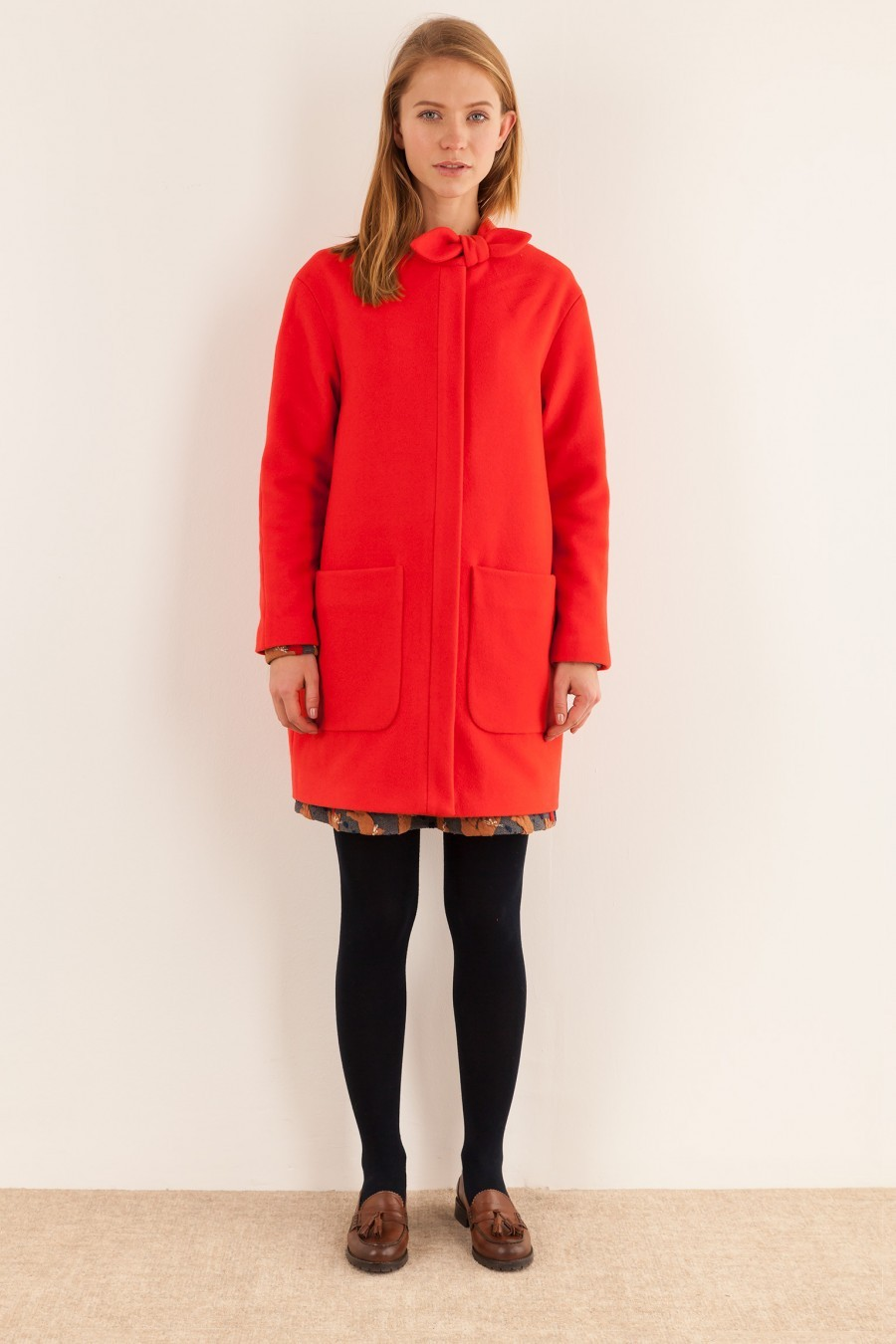 Red Coat with bow Lazzari