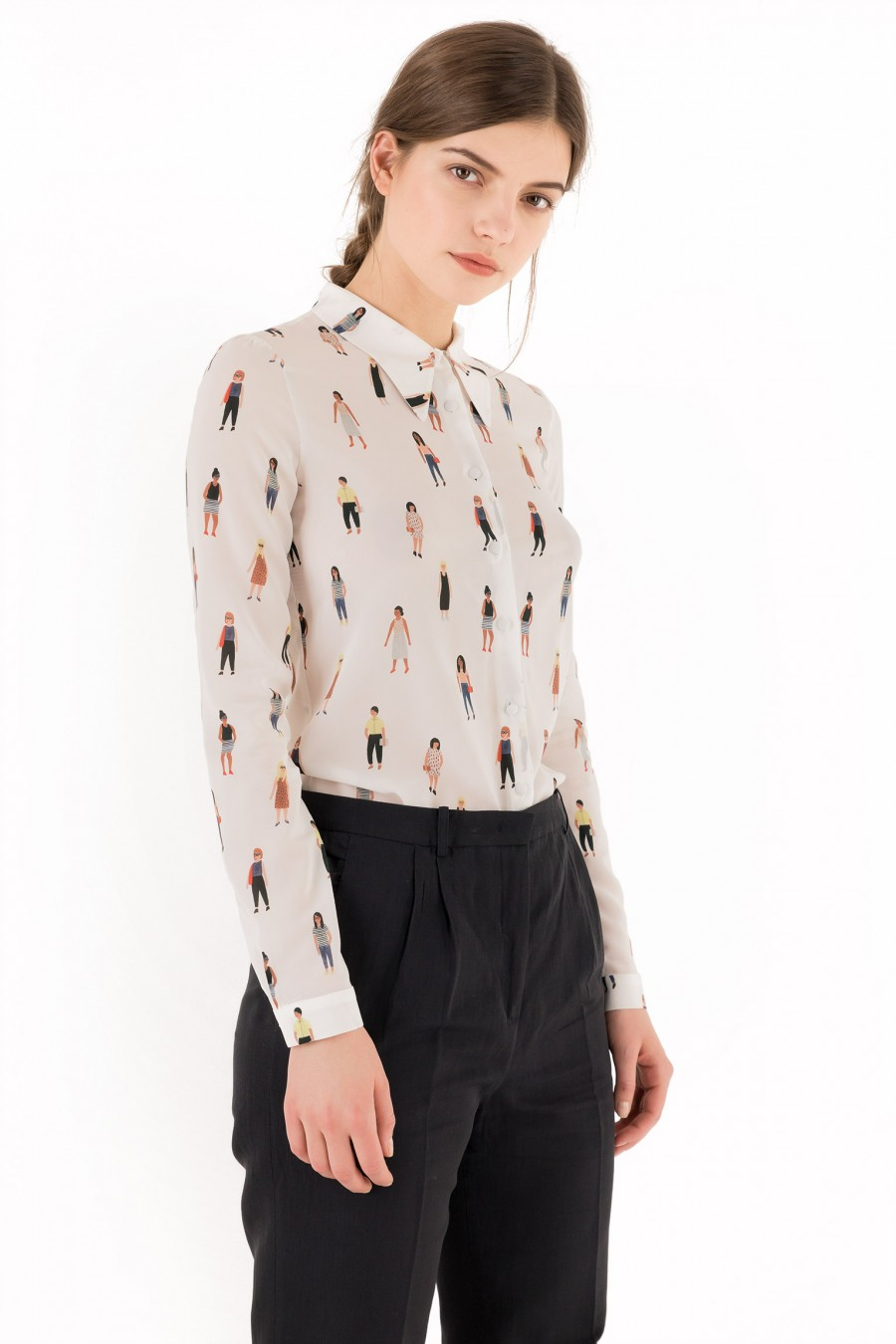 Camicia Lazzari Girl  illustrazione di Kate Pugsley