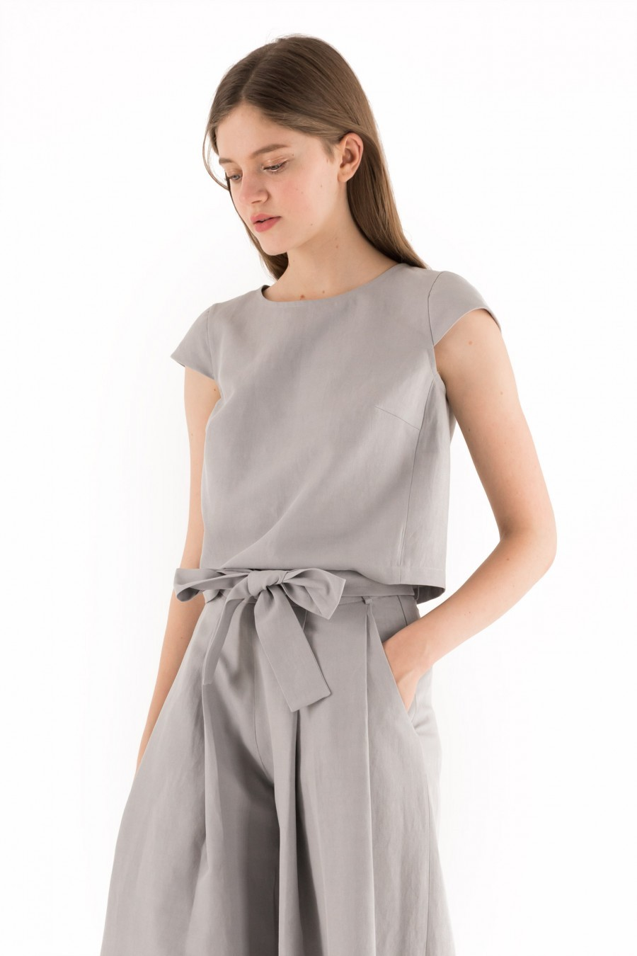 pearl grey top Lazzari