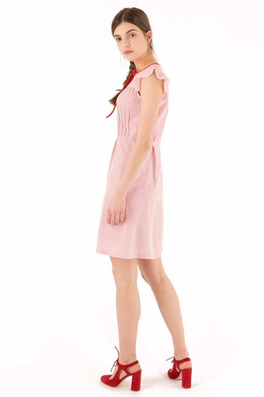 Pink silk dress Lazzari
