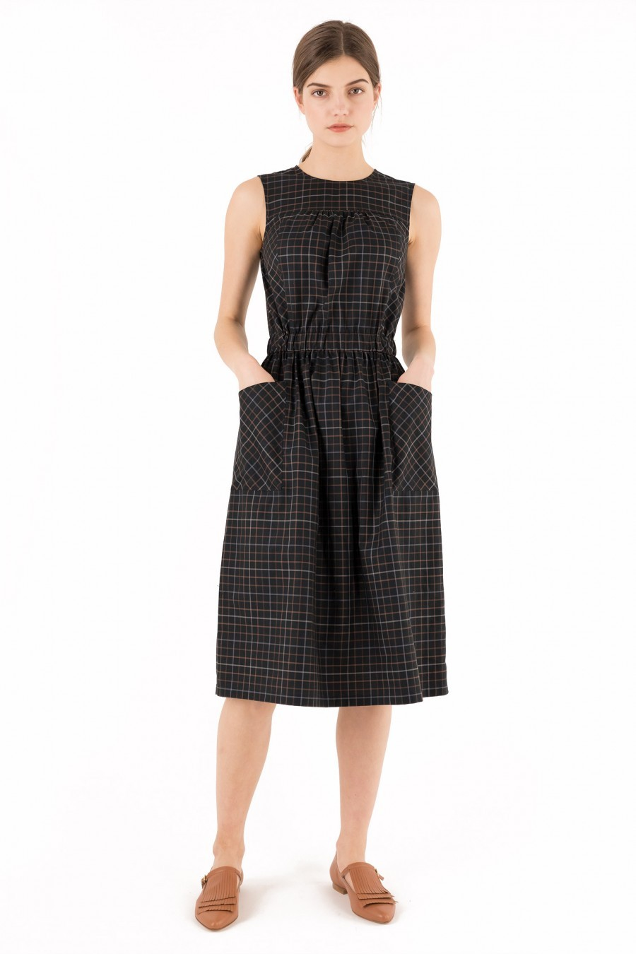 Cotton Dress tartan Spring Lazzari