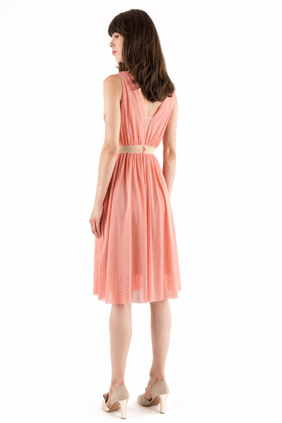 Bridesmaid pink tulle dress