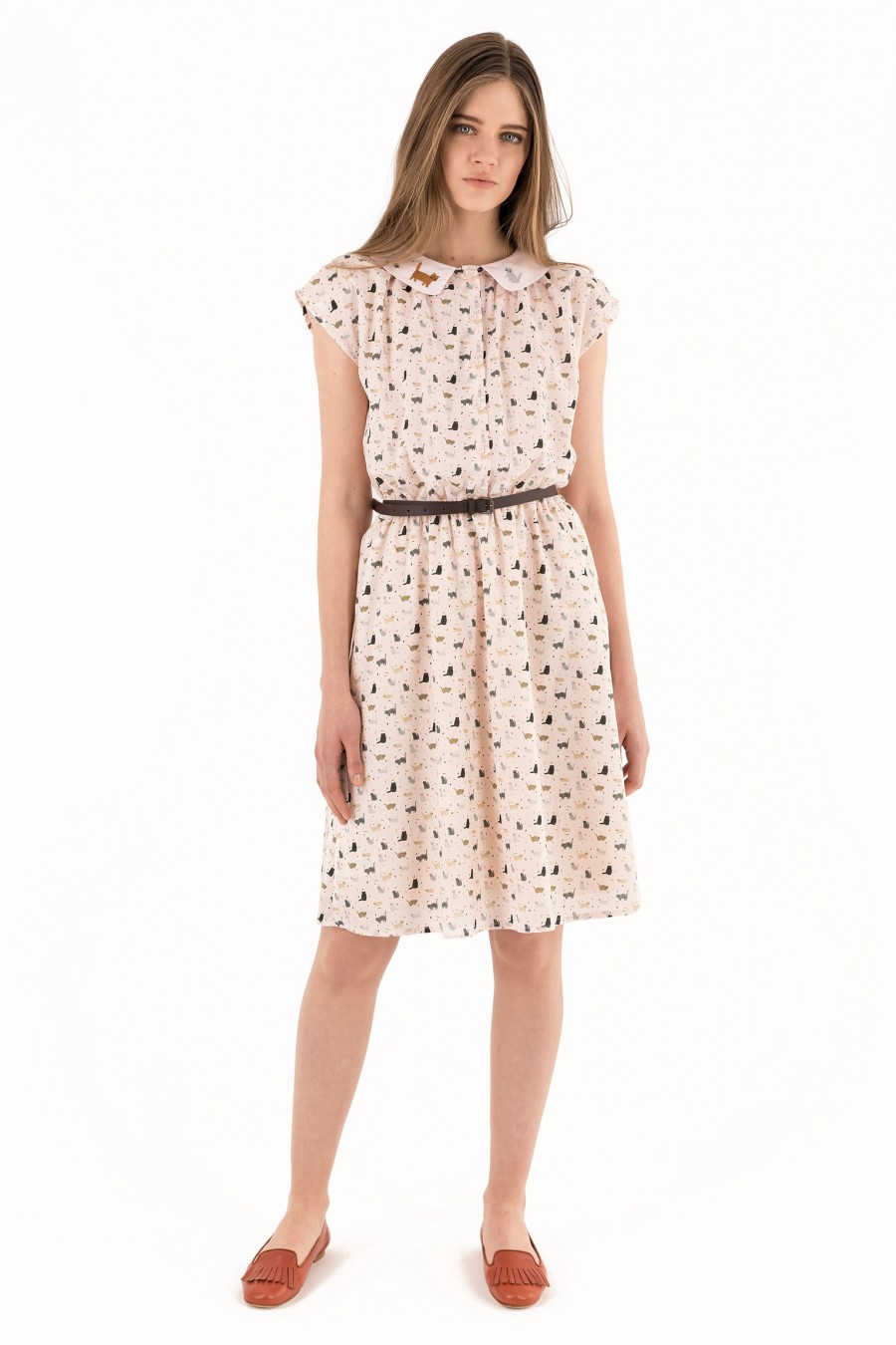 dress in lightweight cotton poplin