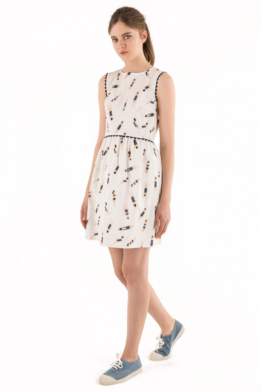 Dress with illustrations by Kate Pugsley