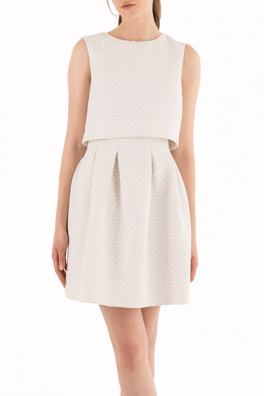 White pouf dress