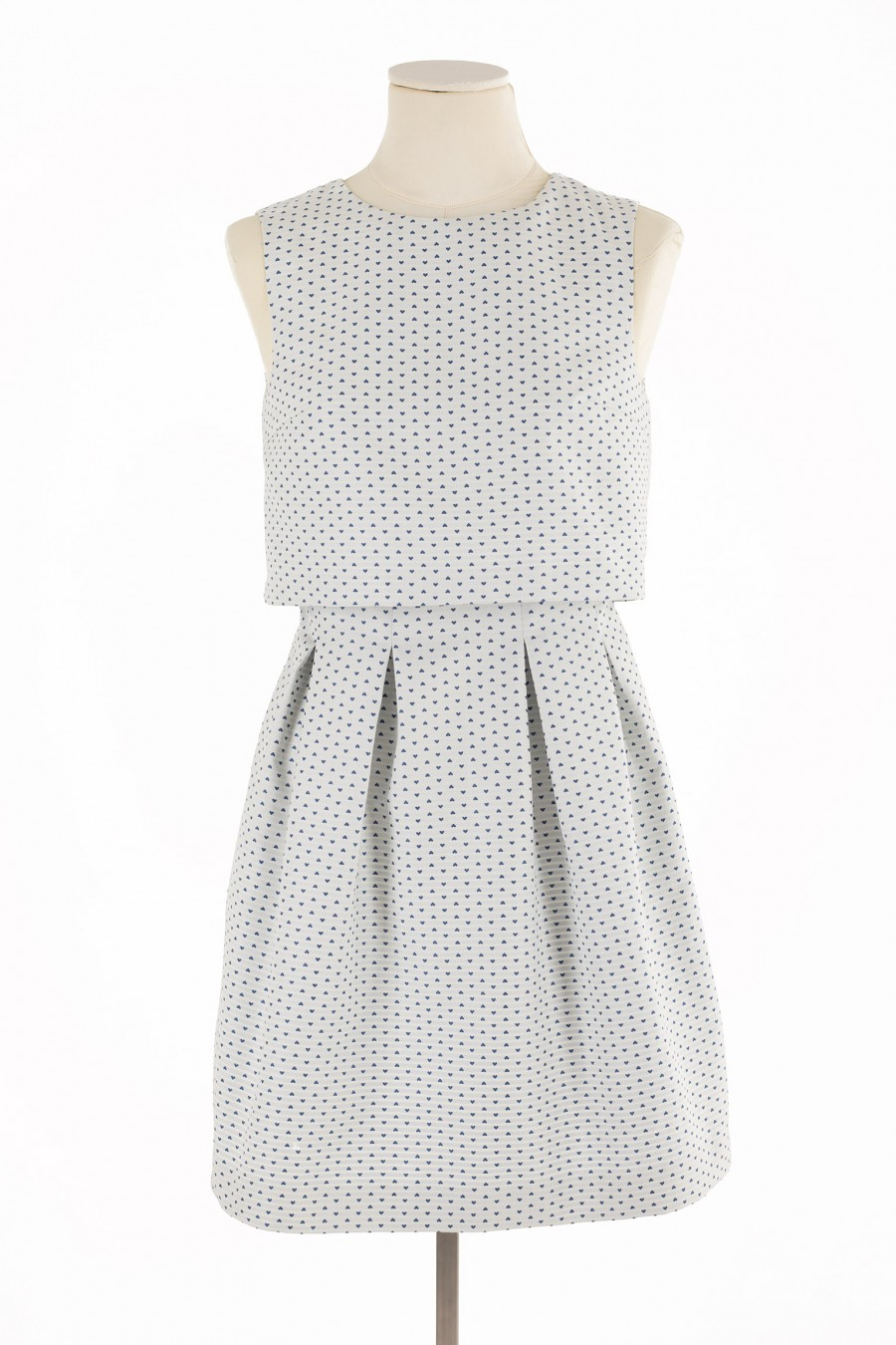 Pouf dress with little hearts