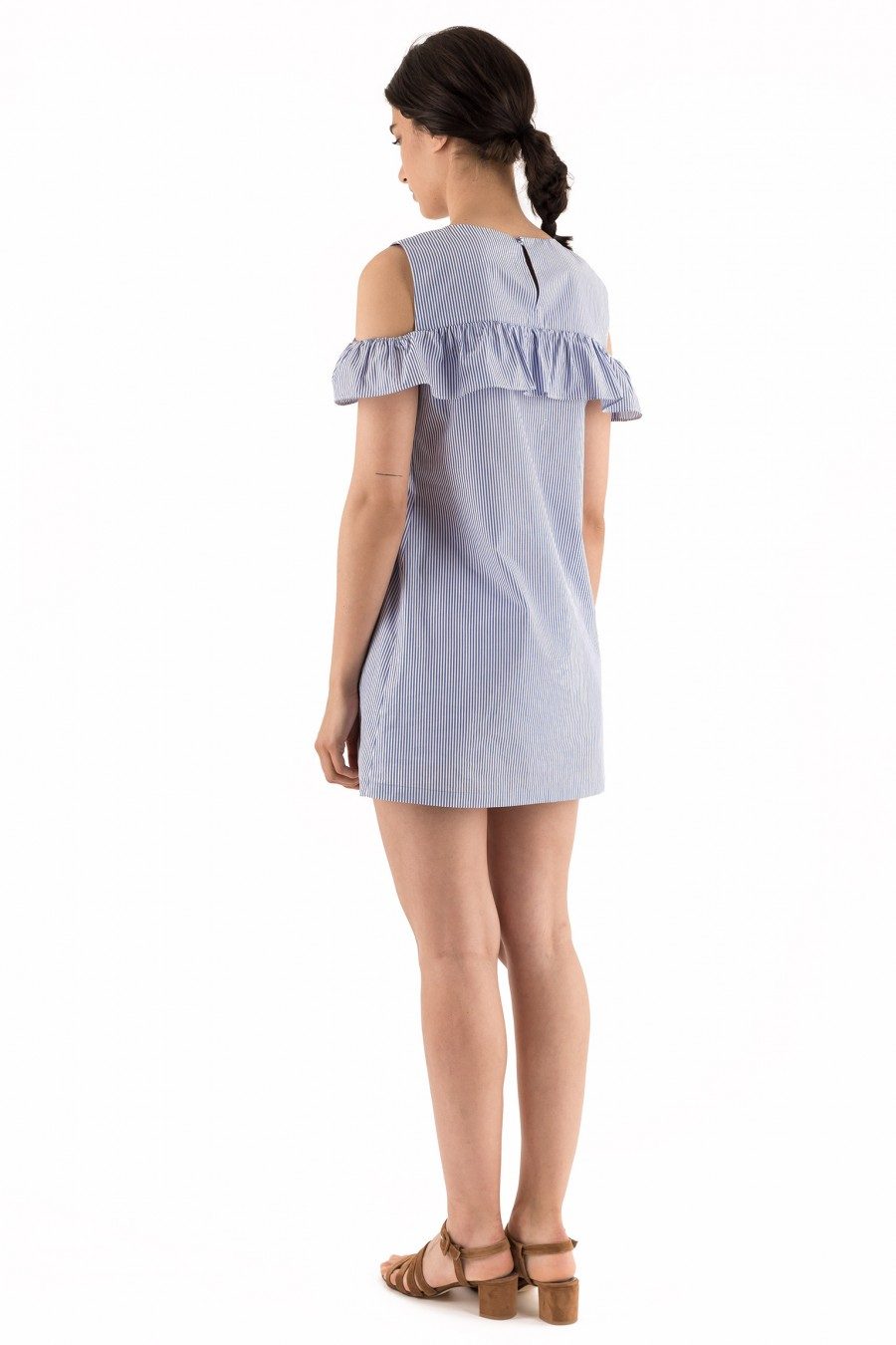 Cotton summer dress with tied shorts