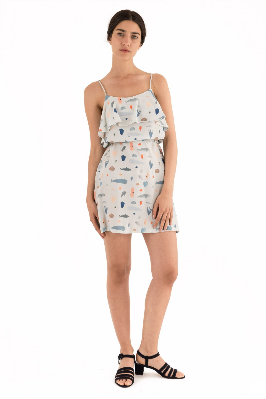 Babydoll dress with sea animals