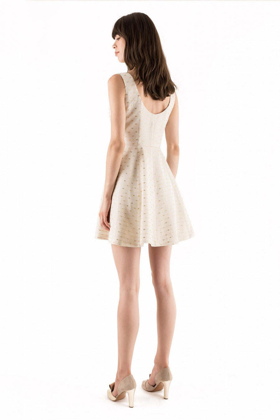 Gold and white summer dress