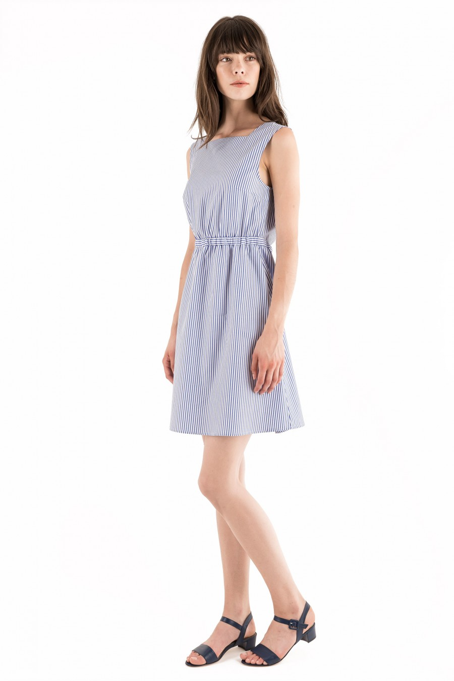 Summer cotton dress with bow